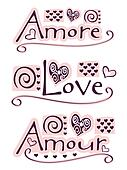 amore, love, amour