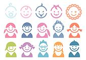 baby and children faces