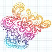 Flower Summer Doodle Vector Design