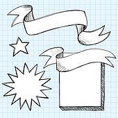 Scroll Banner Sketchy Doodles Frame