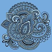 Henna Abstract Ornate Doodle Vector