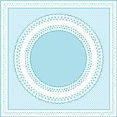 Eyelet Lace Frame, Pastel Aqua