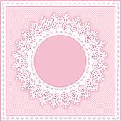 Eyelet Lace Frame, Pastel Pink