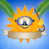 sun with diving mask