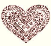 Henna Mehndi Tattoo Heart Valentine