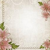 Paper grunge background with pink lily