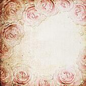 Grunge beige and pink wedding background
