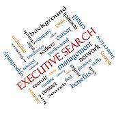 Executive Search Word Cloud Concept Angled