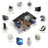 3D infographics of smart home