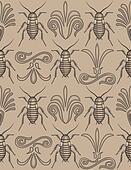 Elegant cockroach wallpaper pattern