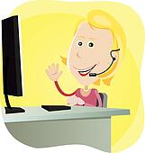 Technical support Girl