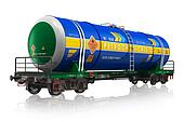 Gasoline railroad tank car