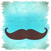moustache retro background