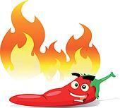 Cartoon Red Hot Chili Pepper
