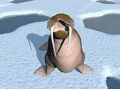 Walrus mouth - 3D render