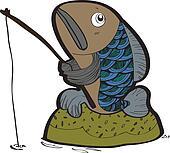 fish fishing vector