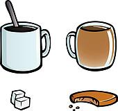 Set of hot drinks icons