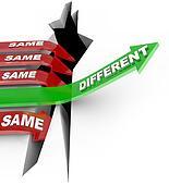 Different Beats Same Unique Innovation Vs Status Quo Arrows