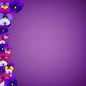 Violet Banner With Color Flowers