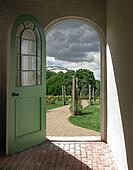Arched Doorway to Rose Garden