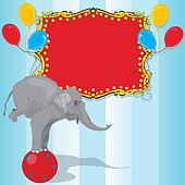 Circus Elephant Birthday Party