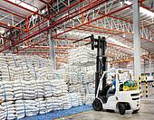 Forklift loader with big bag of sugar