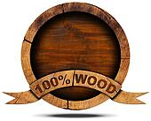 100 Percent Wood - Wooden Icon