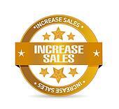increase sales seal sign concept