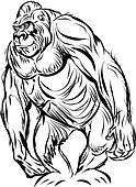 Gorilla line art