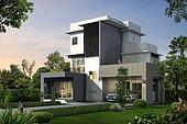 3d house perspective
