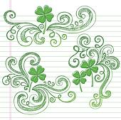 St Patricks Day Shamrock Doodles