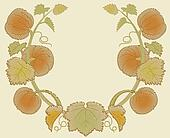 Engraved Pumpkin Vine