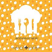 The concept of Restaurant menu on v