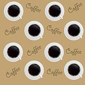 Abstract Coffee background, seamless Pattern, vector illustration