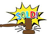 Auction gavel Sold cartoon icon
