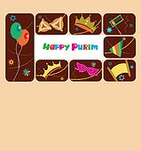 Happy purim, jewish holiday