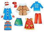 set of seasonal clothes for girls