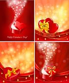 Set of Valentine`s day backgrounds