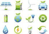Environmental & Green Energy Icons