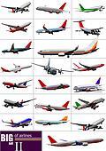 Big set of  Airlines. Vector illustration