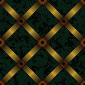 upholstery background with gold ribbon seamless