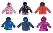 Children's warm jackets