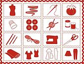 Sewing, Tailor, Knit, Crochet Icons