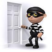 3d Burglar breaks in