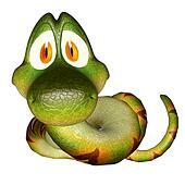 Cartoon 3d  snake