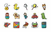 Children toys icons set,eps10