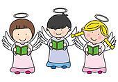 Three children making communion