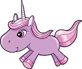 Evil Purple Unicorn Animal Vector