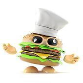3d Burger chef
