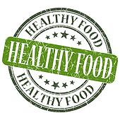 Healthy food green grunge textured vintage isolated stamp